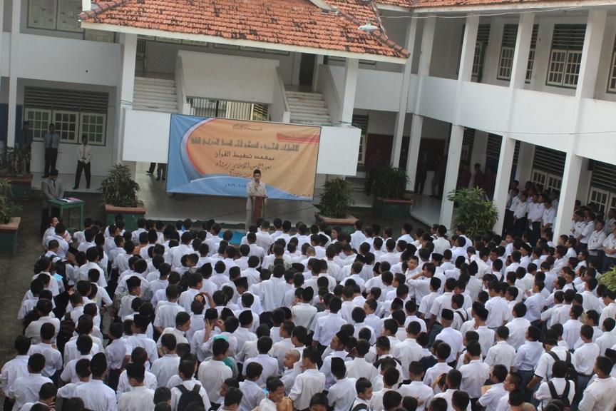 Pembukaan Ujian Tahriri Semester II dan Ujian Nasional (UN) Kelas III SMP MTA Al-Amien Prenduan Serentak oleh KH. Ghozi Mubarok Idris, MA